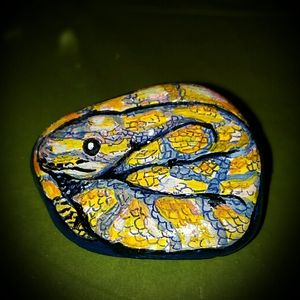 Hand Painted Rocks Snaketi
